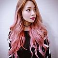今夏粉紅 夢幻長捲髮 快速接髮 台北剪髮 女神製造機