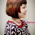 經典BOB 幾何馬賽克染髮 ~西門町尚洋髮型BENSON