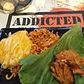 生菜 蒜頭 泡菜+黃金玉米雞=絕配