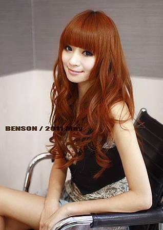 2011夏日流行髮色~洋娃娃般的高光感質感髮色~摩卡橘