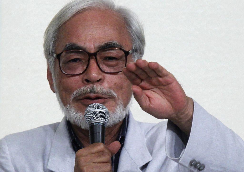 宮崎駿召開記者會正式宣布退休。(路透)