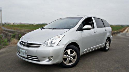 2008年 Toyota Wish 銀色 豐田中古休旅車