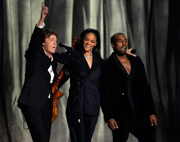 music-grammys-2015-rihanna-paul-mccartney-kanye-west