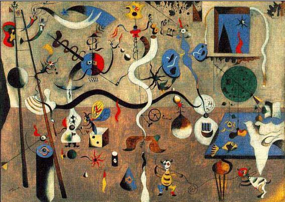 哈里昆的狂歡是第一幅超現實主義的圖畫