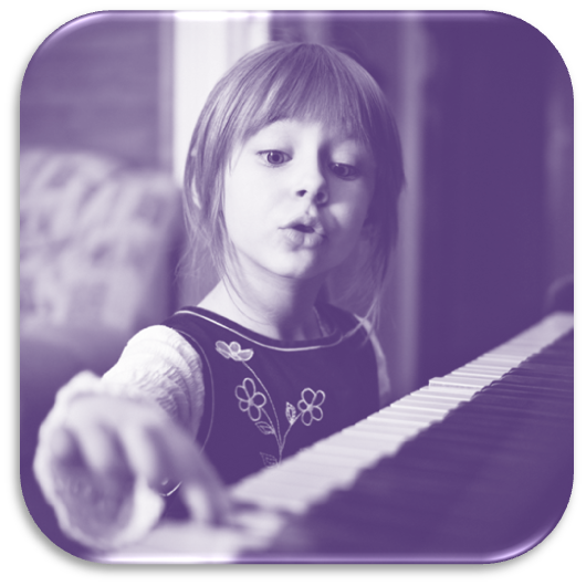 Child-learning-how-to-play-piano-purple