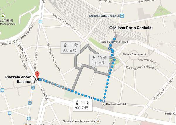 步行到P. Garibaldi