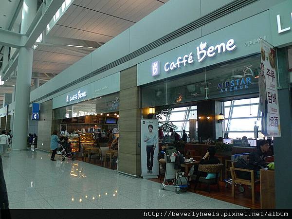 Check in後來到Caffe Bene