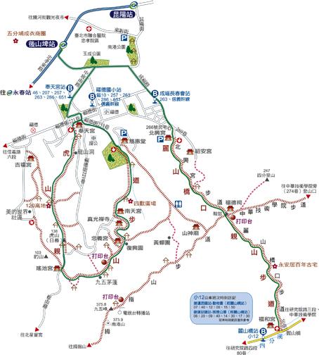 虎山親山步道地圖