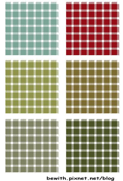 織品設計─可愛小格子