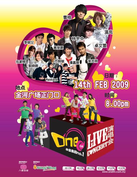 One FM Live concert poster