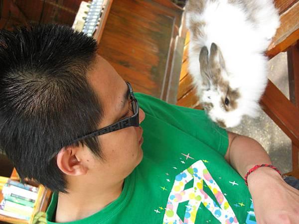 老公直盯著兔兔看