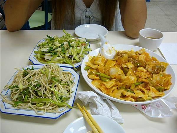 新疆涼菜.涼拌豆腐絲.炒麵片