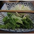 杏子豬排-青菜