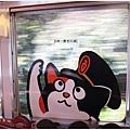 貴志川線-小玉列車窗上的貓咪