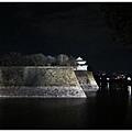 大阪城-黑夜白城.JPG