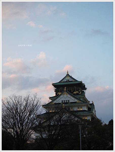 大阪城-夕照大阪城.JPG