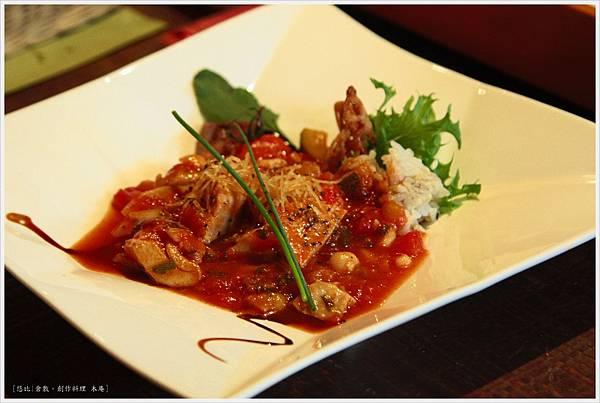 木庵-Full course-番茄滷煮雞肉.JPG