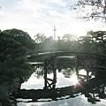 涉成園-印月池侵雪橋京都塔-4.JPG