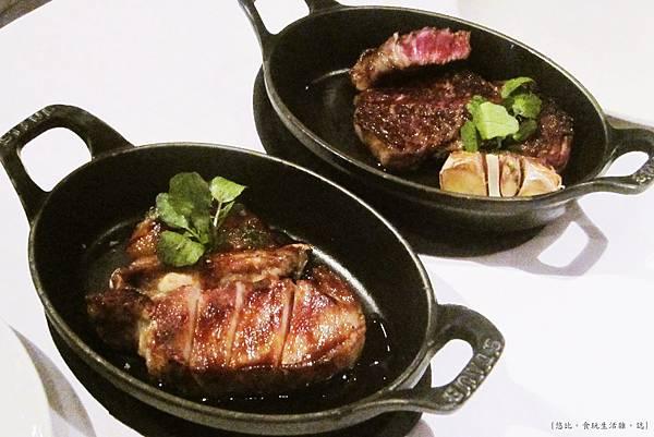 教父牛排-香烤伊比利豬排+頂級菲力牛排.JPG