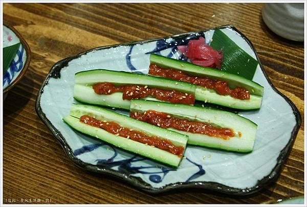 樂座爐端燒 崇德-麥味噌黃瓜-2.JPG