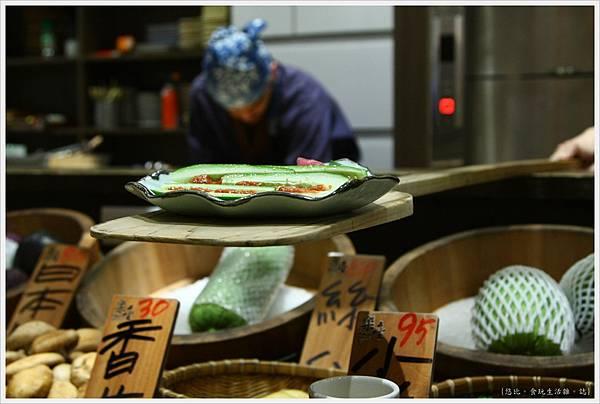 樂座爐端燒 崇德-麥味噌黃瓜-1.JPG