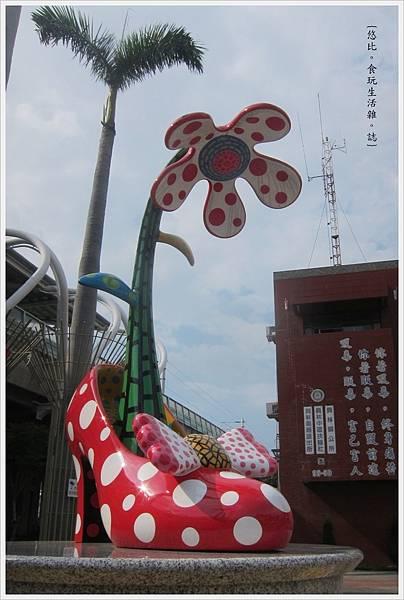 員林車站-草間彌生高跟鞋-6.JPG