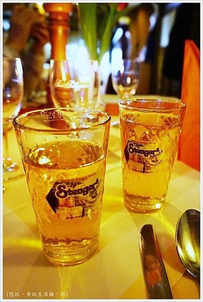 法蘭克福-Ristorante Cantina Romana-蘋果酒.JPG