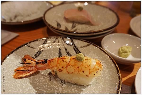 一笈壽司-38-炙燒天使紅蝦握壽司.JPG