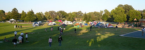 the view of camp ground
