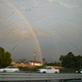 傍晚的彩虹