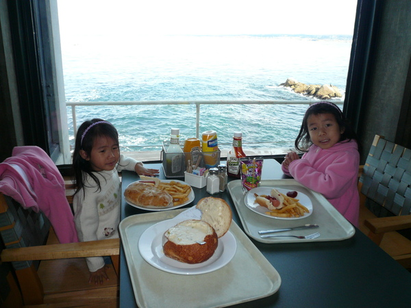 賞海景高級享受的午餐