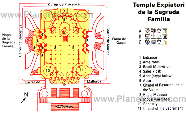 sagrada familia map