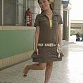 東京著衣短袖洋裝+變麗商店內搭衣+amai魚口鞋+偷渡kosica蓬蓬裙腰帶