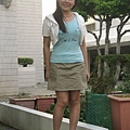 COCOLULU背心+YAP裙子+東海白色小外套+amai魚口鞋