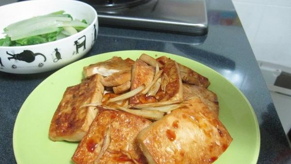 配菜類七號--香煎手工豆腐