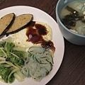 素食類一號--鱈魚排快餐+味增湯.jpg