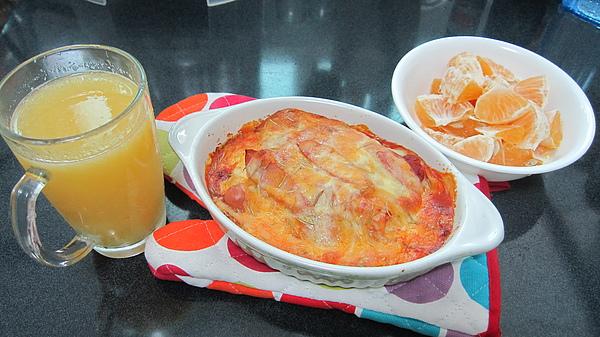 主食類七號--焗烤德國香腸千層麵