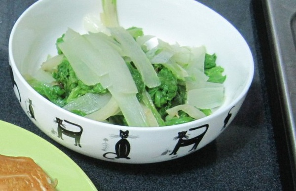 配菜類六號--薑絲白菜