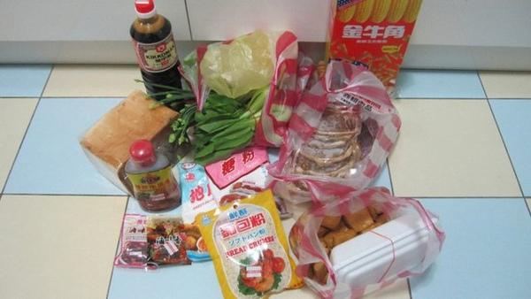 今天剛買的食材,很新鮮喔!我不喜歡吃料理包低!