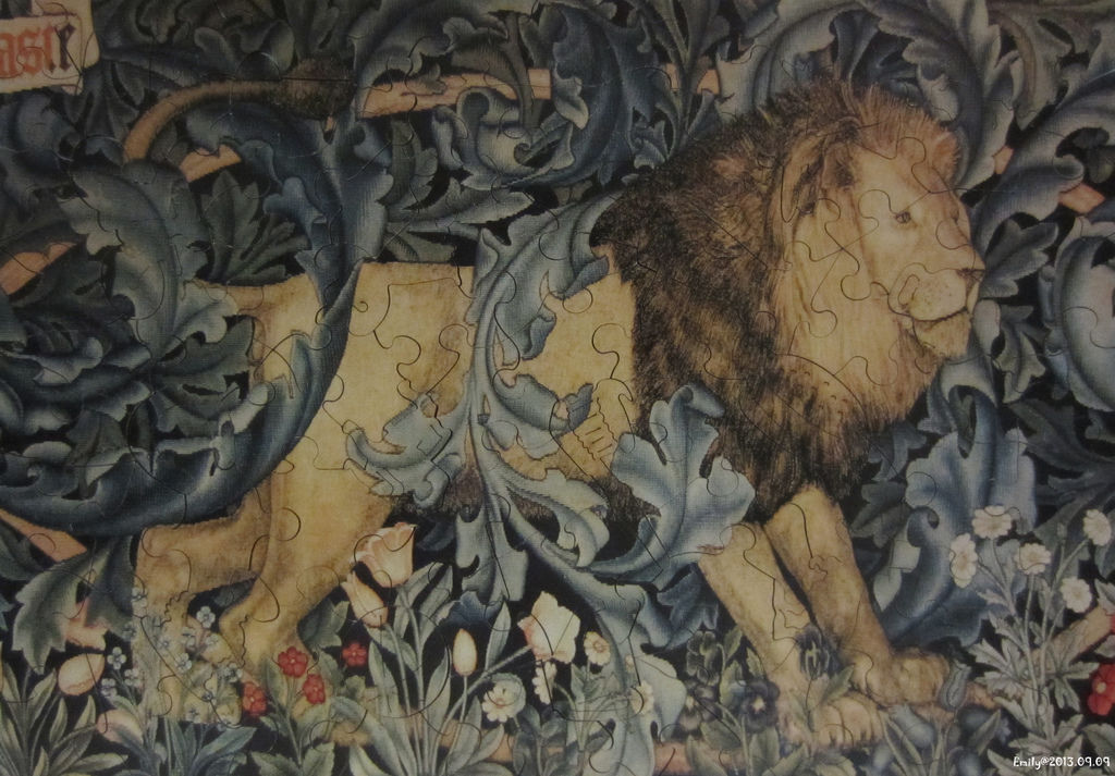 Detail from 'The Forest ' tapestry, 1887