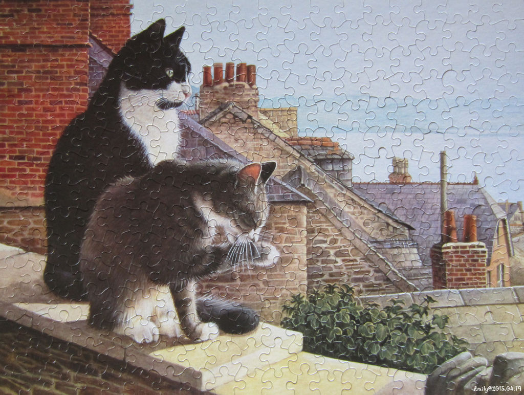《艾‧拼圖-337》Chesterton and Twiglet on The Rooftop.jpg