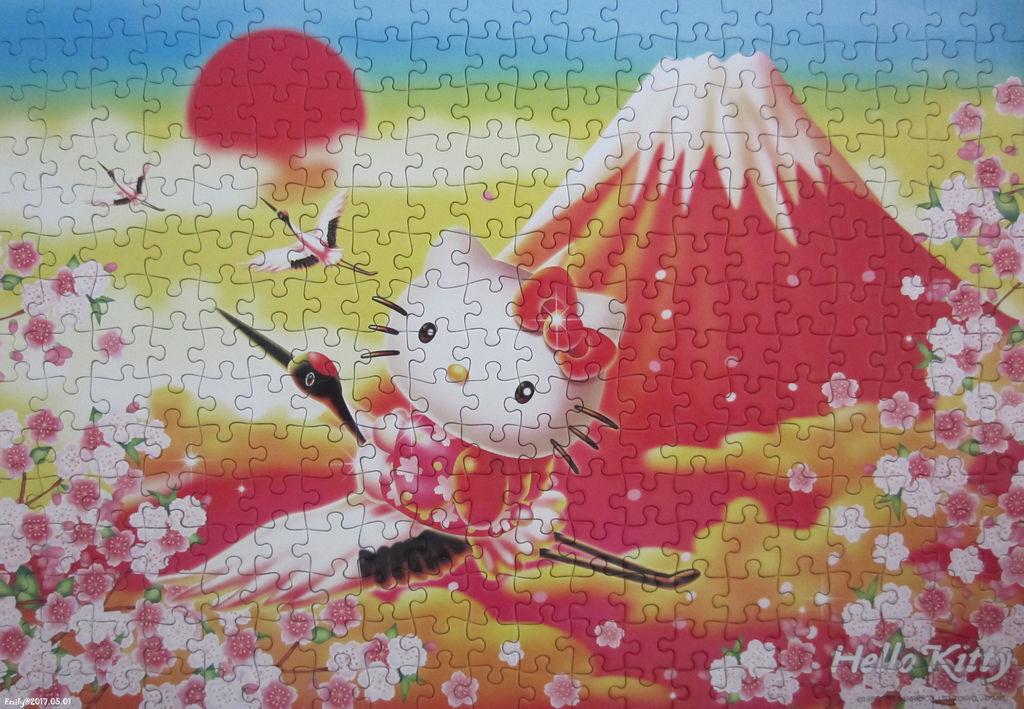 《艾‧拼圖-826》ハローキティの金雲赤冨士.jpg