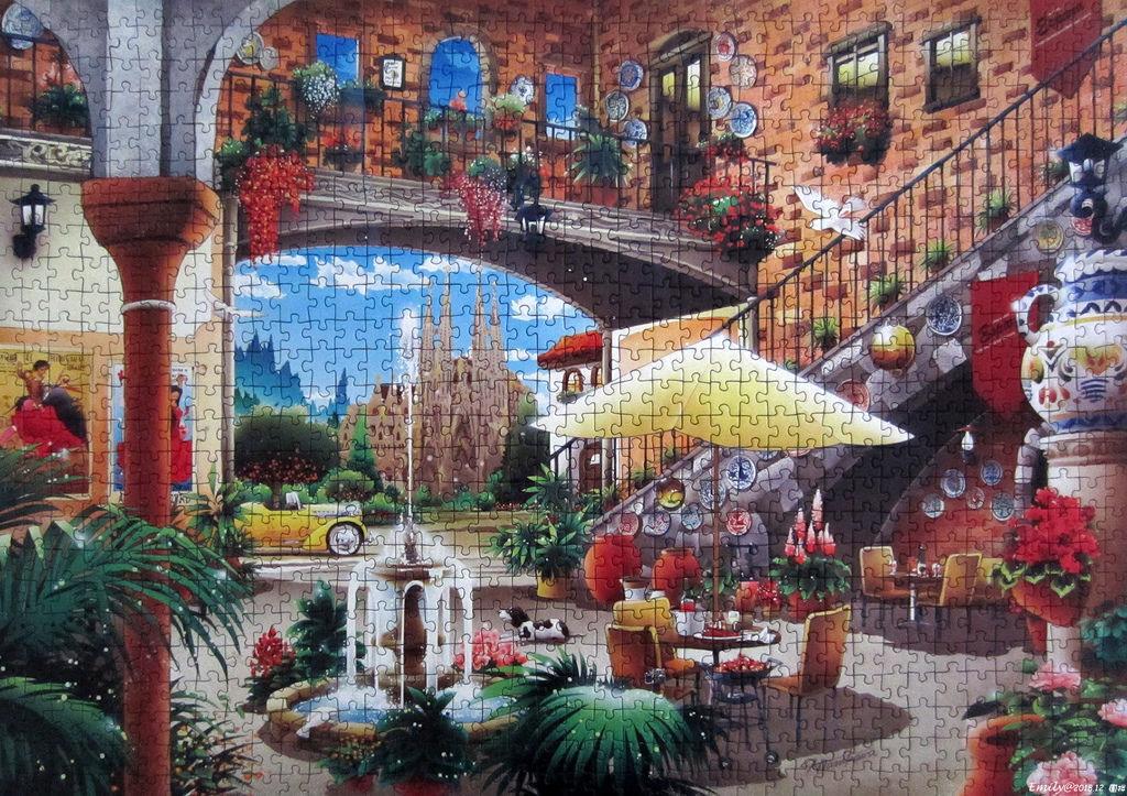 《艾‧拼圖-1058》Barcelona View From Courtyard.jpg