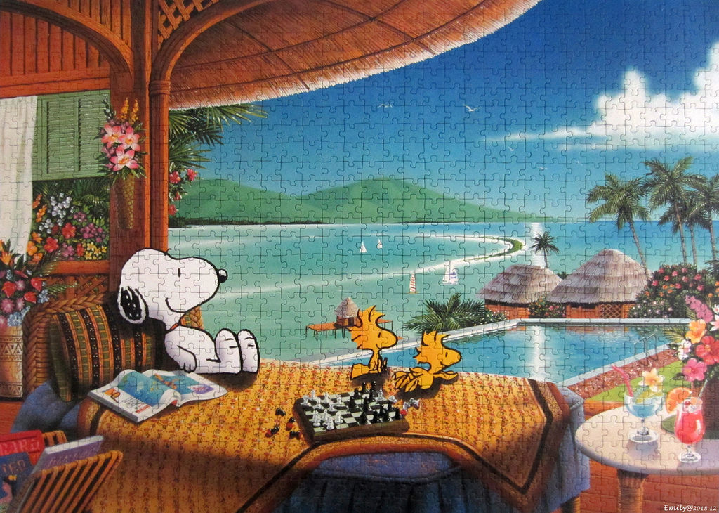 《艾‧拼圖-1064》Snoopy on Holiday.jpg