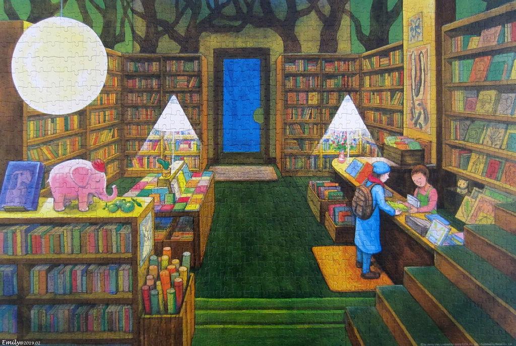 《艾‧拼圖-1087》The peaceful bookstore.jpg