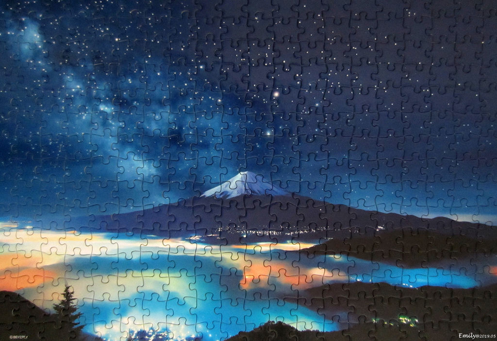 《艾‧拼圖-1129》The Stars in Heaven and Mt. Fuji.jpg