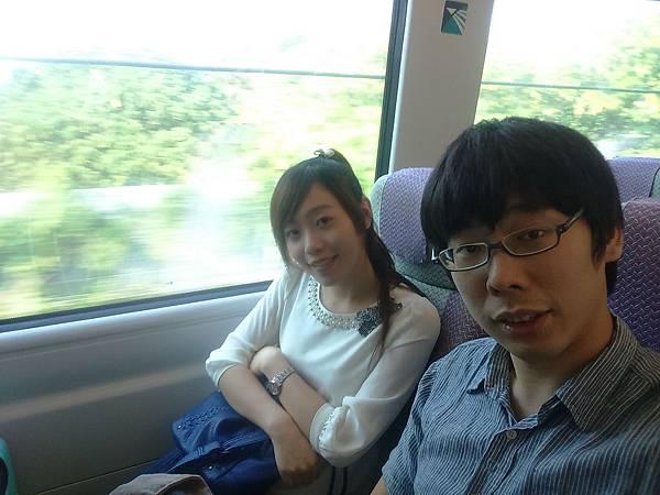 在香港機場快線上