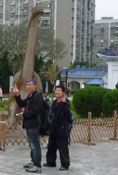 中正紀念堂外的恐龍.JPG