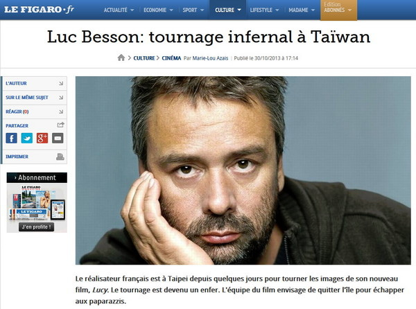 Luc Besson in Taiwan