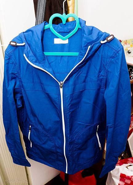 uniqlo藍夾克